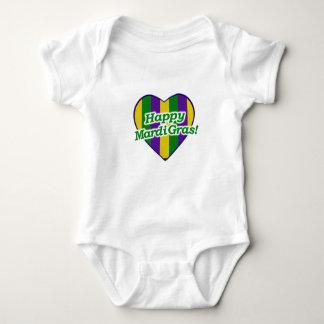 Happy Mardi Gras Logo Baby Bodysuit