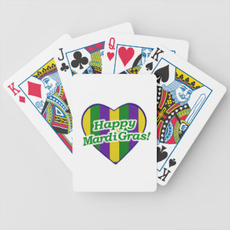 Happy Mardi Gras Logo Bicycle Playing Cards