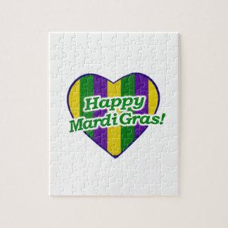 Happy Mardi Gras Logo Jigsaw Puzzle