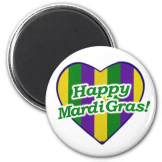 Happy Mardi Gras Logo Magnet