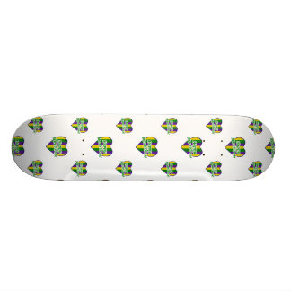 Happy Mardi Gras Logo Skate Decks