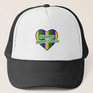 Happy Mardi Gras Logo Trucker Hat