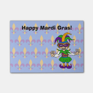 Happy Mardi Gras! Post-it Notes