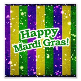 Happy Mardi Gras Poster