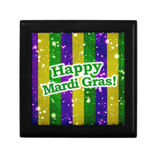 Happy Mardi Gras Poster Gift Box