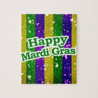 Happy Mardi Gras Poster Jigsaw Puzzle