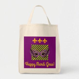 """Happy Mardi Gras!"" tote bag"
