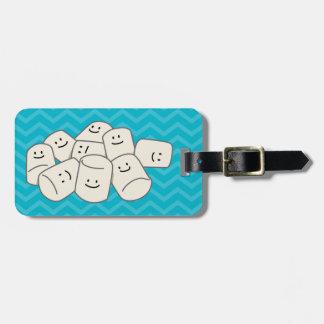 Happy Marshmallow buddies sticky puff sweet friend Luggage Tag