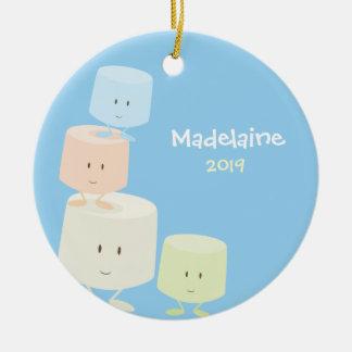 Happy Marshmallows Christmas Ornament