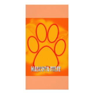 happy mascot picture card