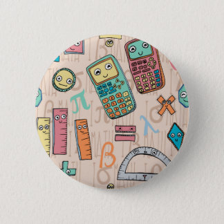 Happy Math 6 Cm Round Badge