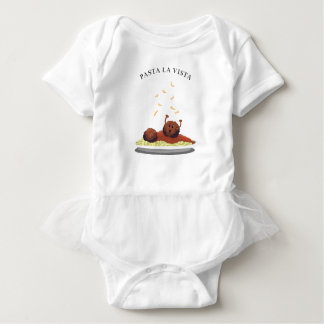 "Happy Meatball ""Pasta La Vista!"" Baby Bodysuit"