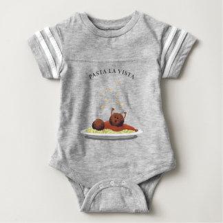 "Happy Meatball ""Pasta La Vista!"" Baby Bodysuit"