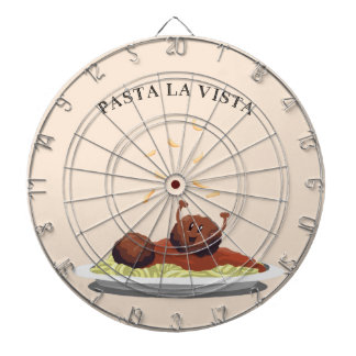 "Happy Meatball ""Pasta La Vista!"" Dartboard"
