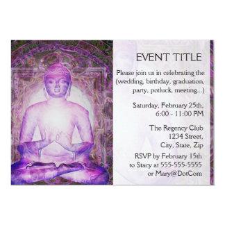Happy Meditating Buddha 13 Cm X 18 Cm Invitation Card