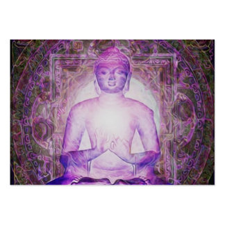 Happy Meditating Buddha Pack Of Chubby Business Cards