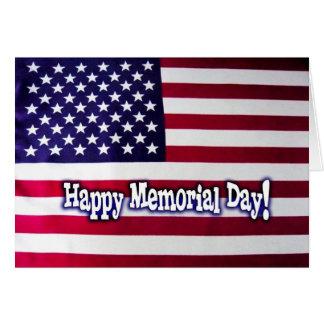 Happy Memorial Day - American Flag Greeting Card