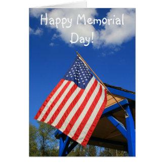 Happy Memorial Day American Flag greeting card