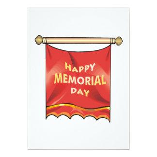 Happy Memorial Day Banner Personalized Invite