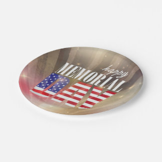 Happy Memorial Day Paper Plates
