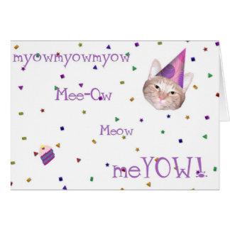 Happy Meow Birthday Card