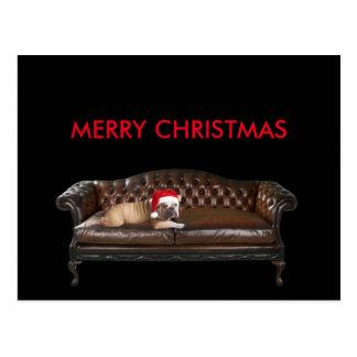 Happy Merry Christmas Funny Ironic Postcard