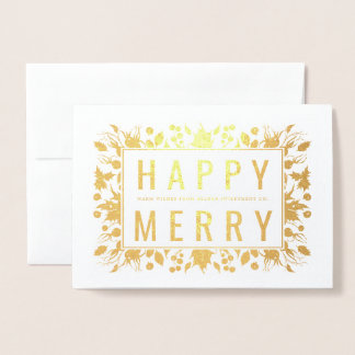 Happy Merry Holiday Foil Card