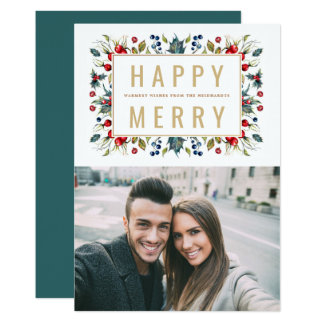Happy Merry | Photo Holiday Flat Card