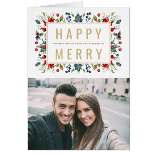 Happy Merry Photo Holiday Greeting Card