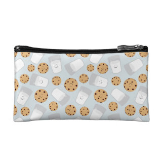 Happy Milk and Cookies Pale Blue Cosmetic Bag