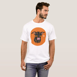 Happy Min Pin Miniature Pinscher Dog Dad Tee