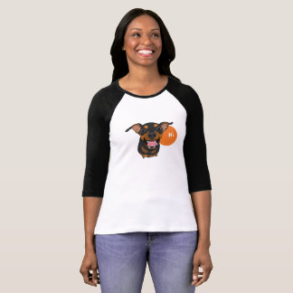 Happy Min Pin Miniature Pinscher Dog Tee