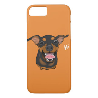 Happy Min Pin Smartphone 7 Plus iPhone Case