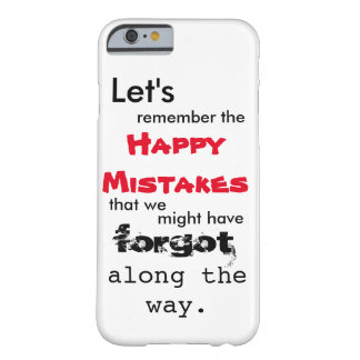 Happy Mistakes Lyrics iPhone 6 Case