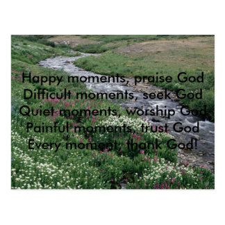 , Happy moments, praise GodDifficult momen... Postcard
