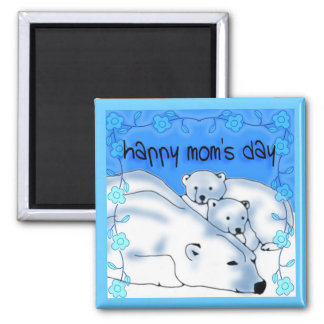 Happy Mom's Day bear cubs Magnet