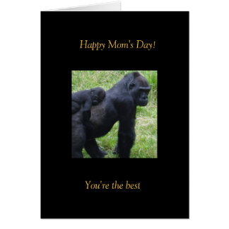 Happy Mom's Day Gorilla's Card