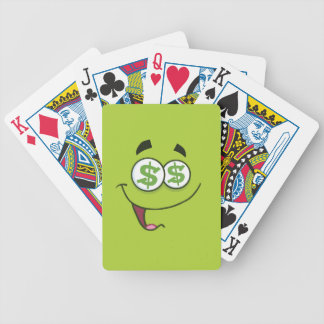 Happy Money Emoji Bicycle Playing Cards