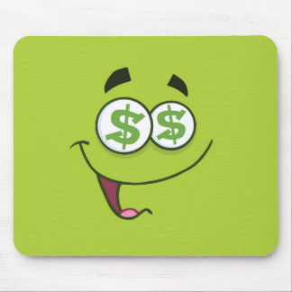 Happy Money Emoji Mouse Pad