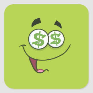 Happy Money Emoji Square Sticker