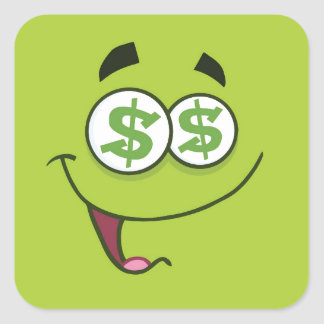 Happy Money Emoji Square Sticker