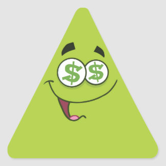 Happy Money Emoji Triangle Sticker