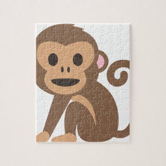 Happy Monkey Cartoon Jigsaw Puzzle