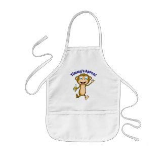 Happy Monkey Children's Apron