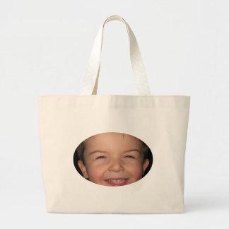 Happy Monkey Oval Tote Bag