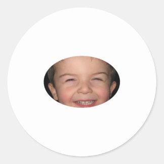 Happy Monkey Oval Round Sticker