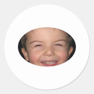 Happy Monkey Oval Sticker