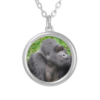 Happy Monkey Silver Plated Necklace
