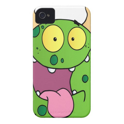 Happy Monster Cartoon Character Case-Mate iPhone 4 Case