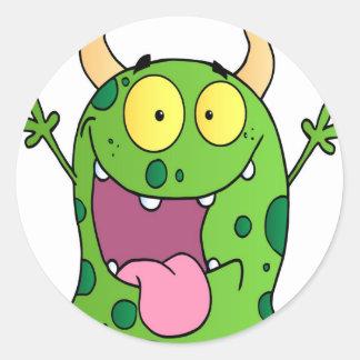 Happy Monster Cartoon Character Stickers